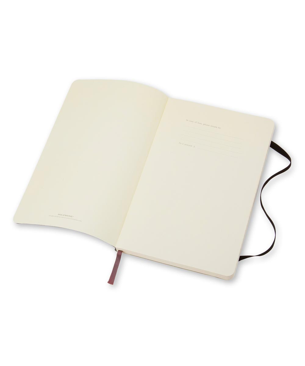 Classic Soft Cover Ruled Notebook Journal, Large 5x8.25 Inch, Black