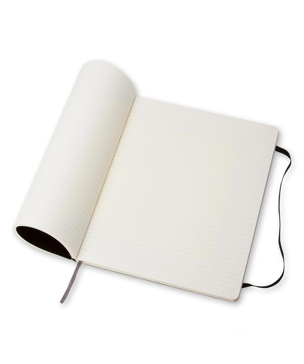 Classic Soft Cover Ruled Notebook Journal, Extra Large 7.5x9.75 Inch, Black