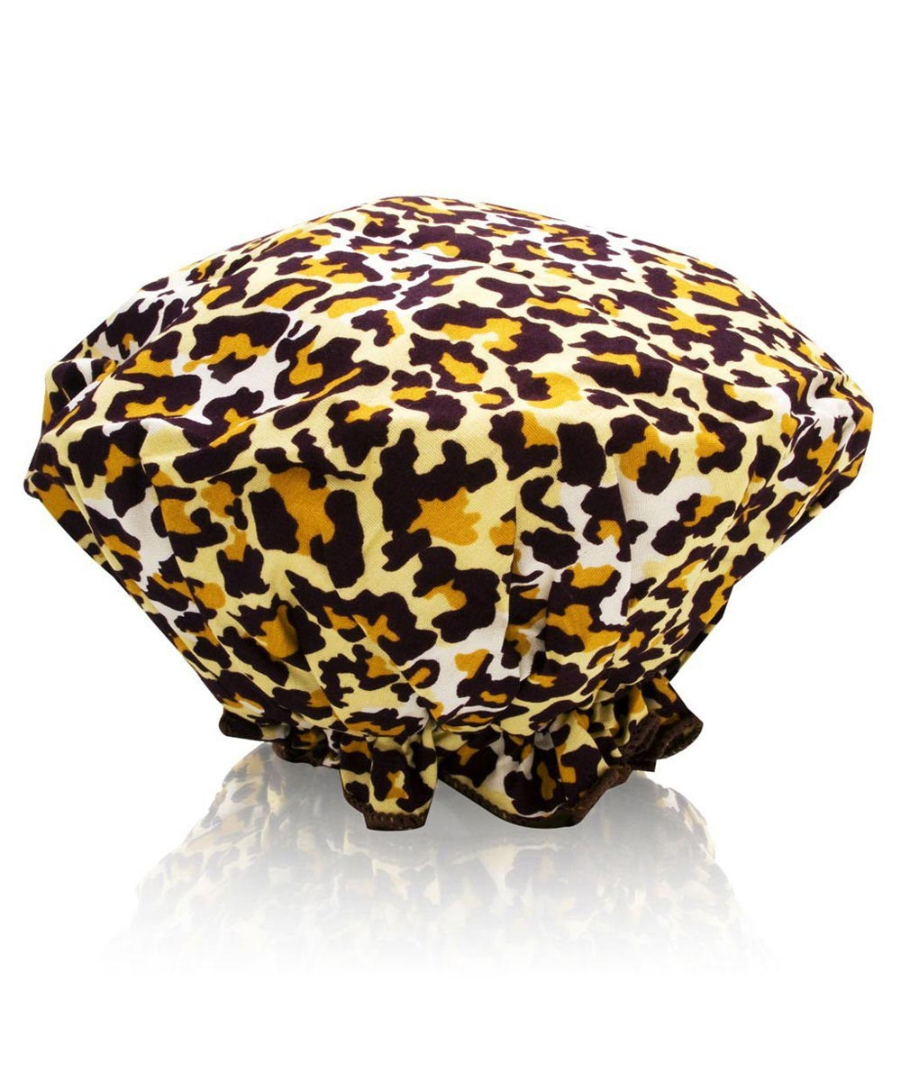 Bouffant Shower Cap, Leopard Print
