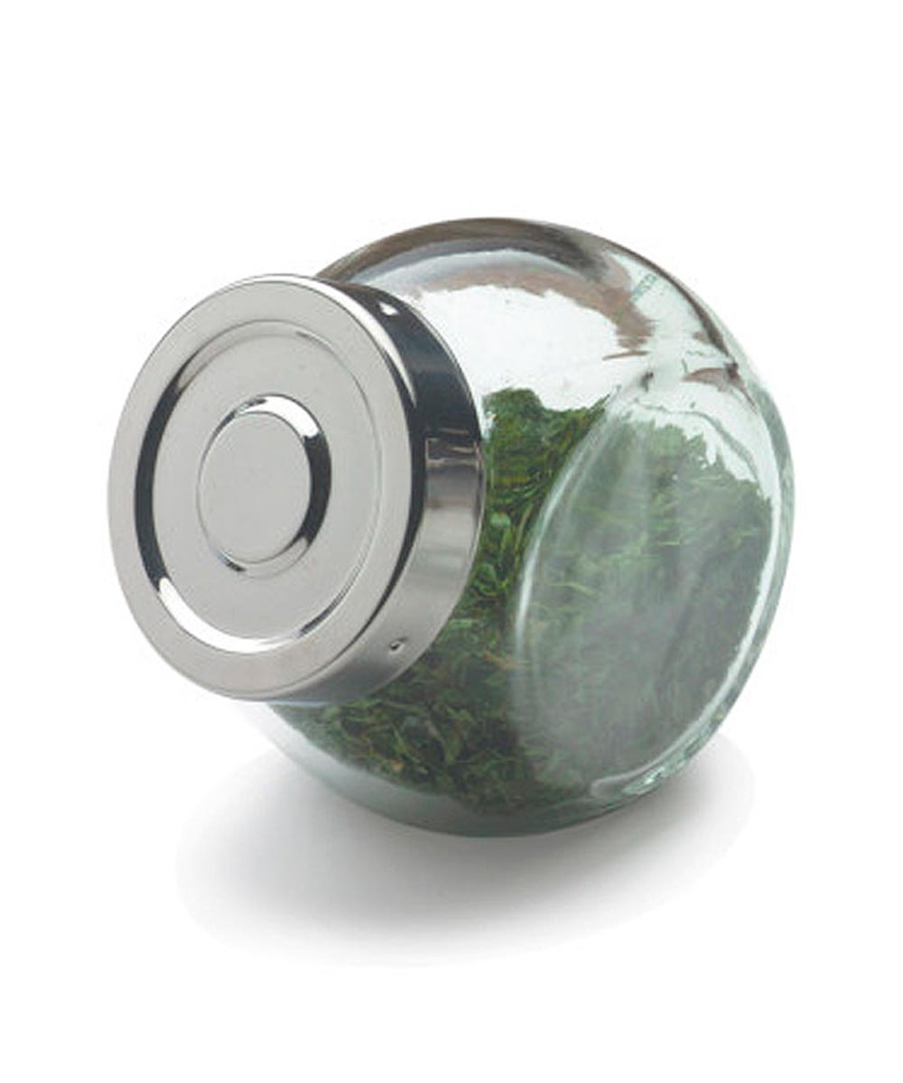 Glass Spice Ball Jar