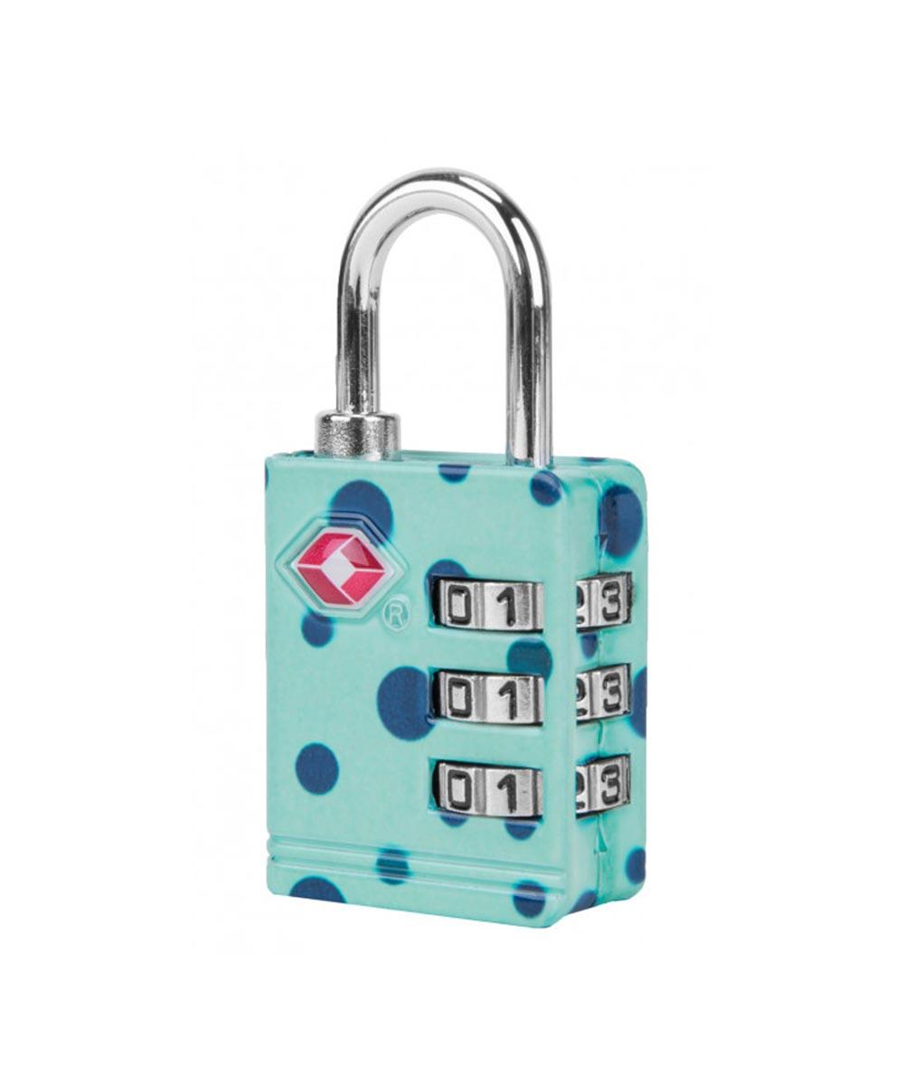 TSA Accepted Luggage Lock, Turquoise Dot