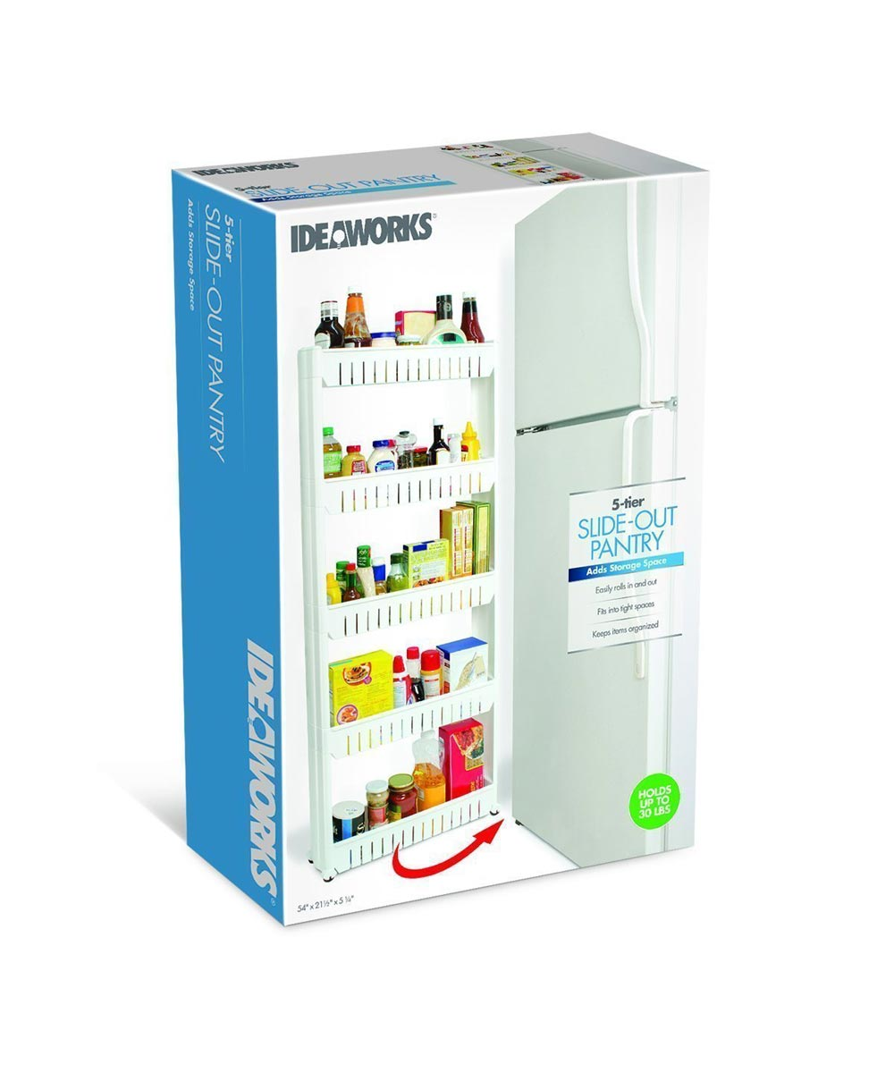 Simply Organized 5 Tier Slim Slide Out Rolling Pantry