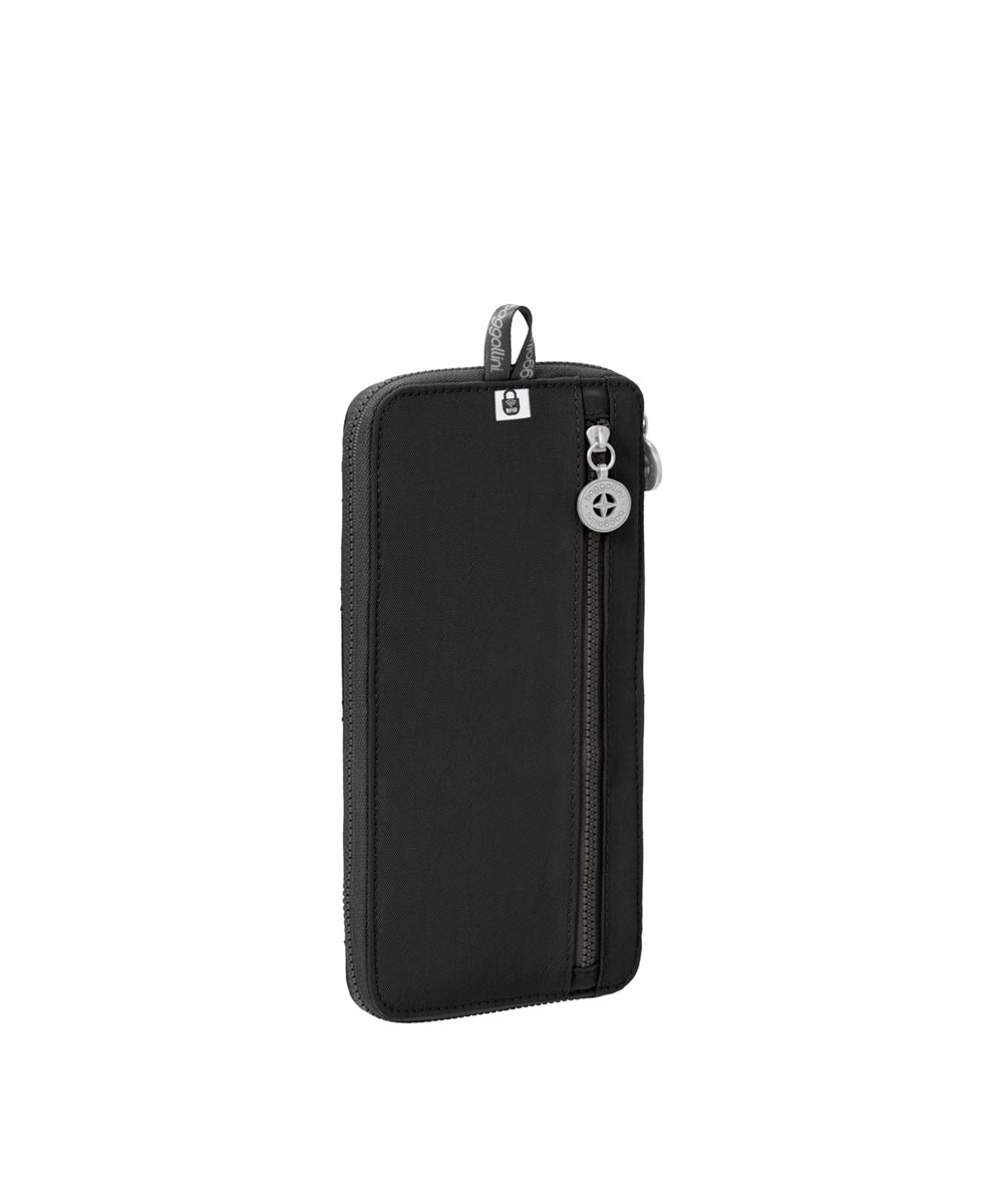 Travel Wallet with RFID Protection for Cards/Passports/Tickets, Black