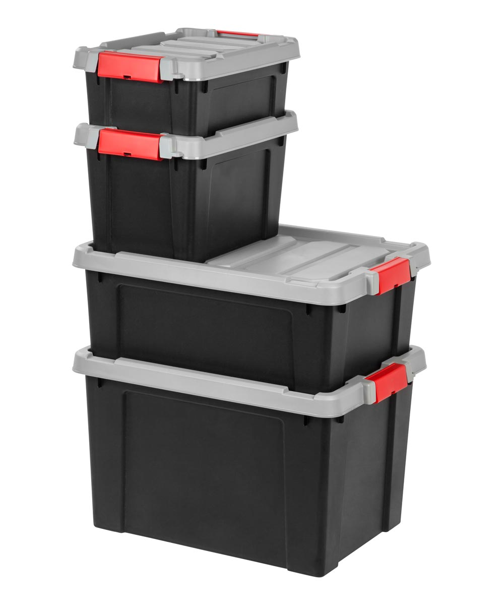 Store-It-All Storage Tote, 3 Gallons, Black