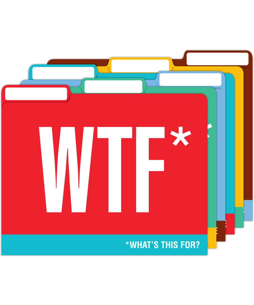 Simply Organized Honest Acronyms Letter Size File Folders