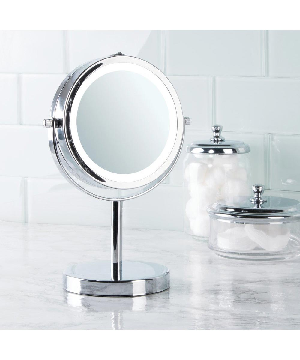 Simply Organized 10 Inch Lighted Free Standing Vanity Mirror