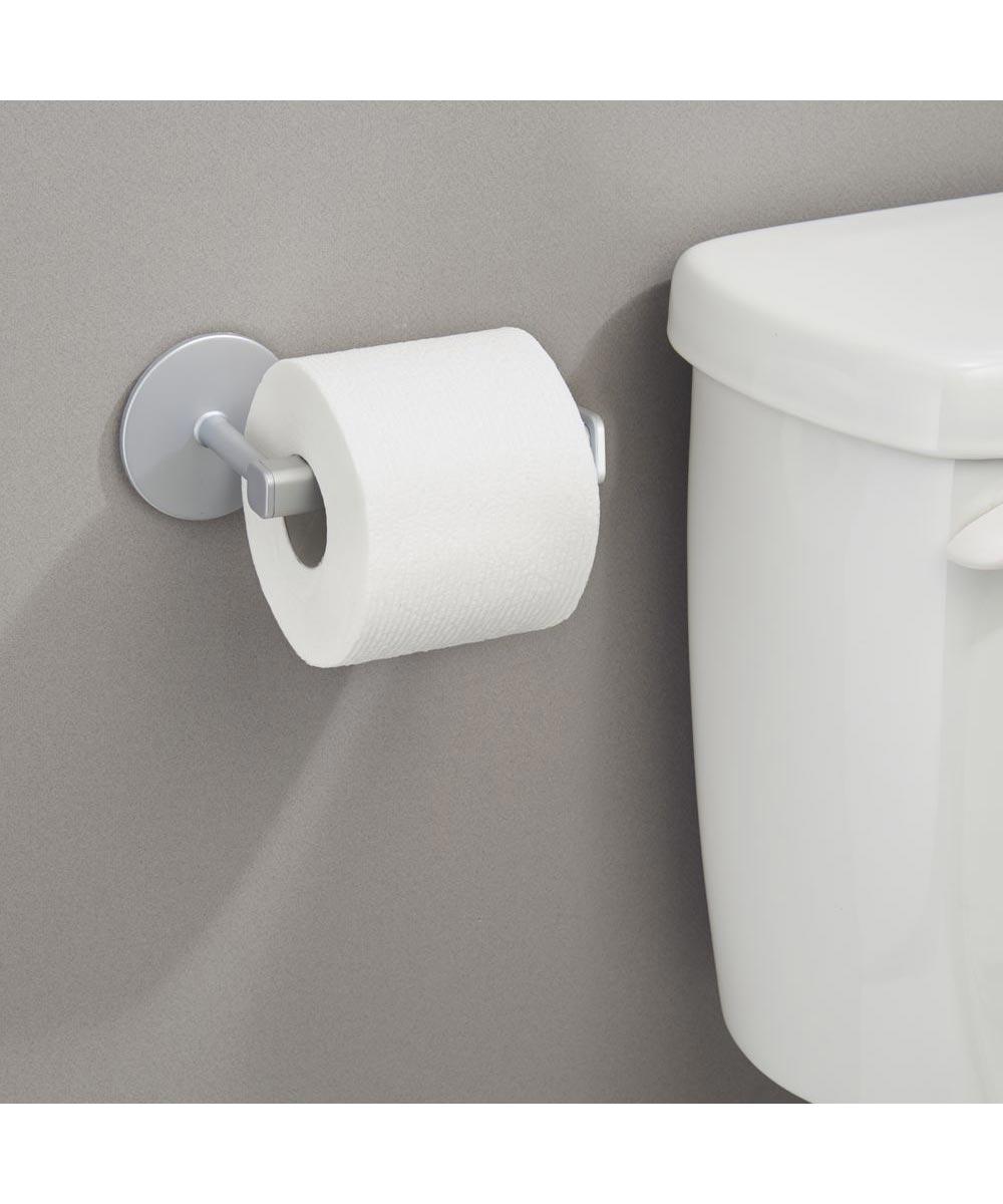 Metro Aluminum Self Adhesive Toilet Paper Holder, Silver