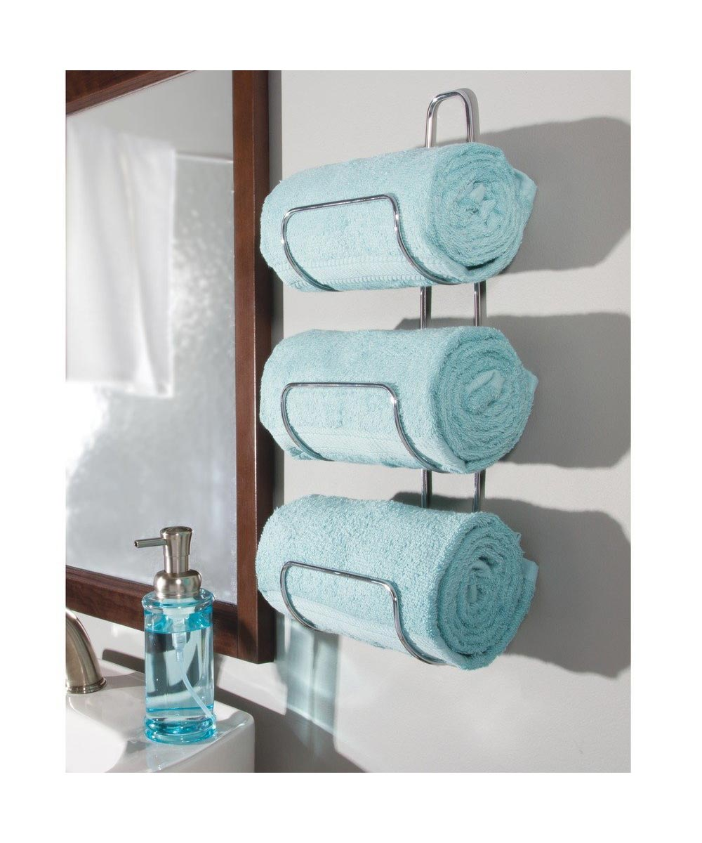 Simply Organized | Classico Wall Mount / Over Door Towel Holder, Chrome