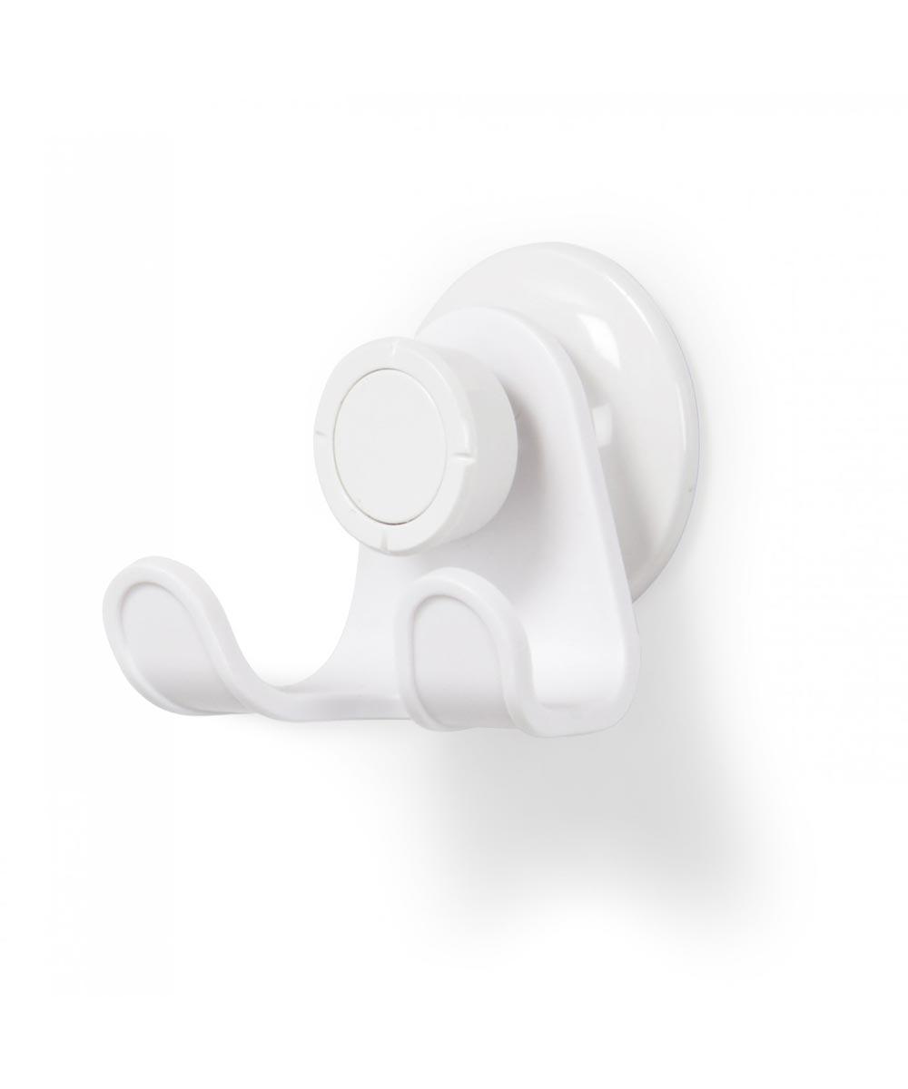 Flex Gel-Lock Suction Double Shower Hook, White