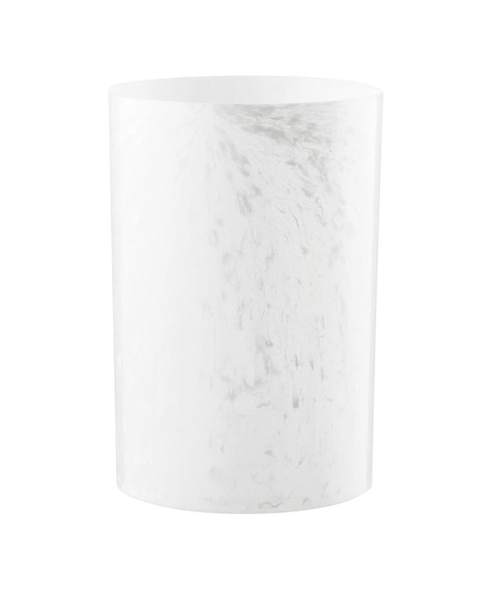 Colonnade Waste Can, White Onyx