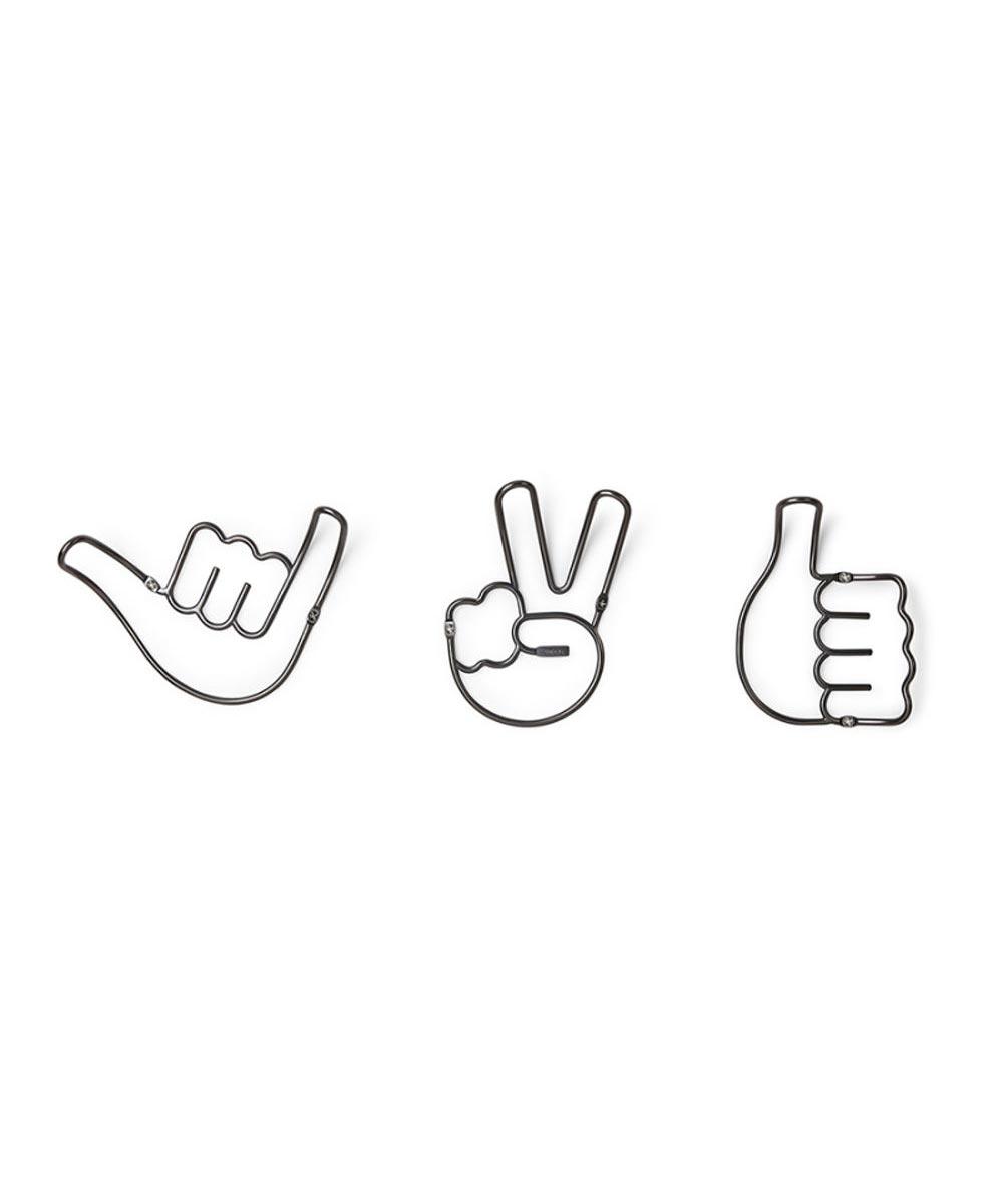 Handy Hooks, Set of 3, Shaka / Peace / Thumbs Up