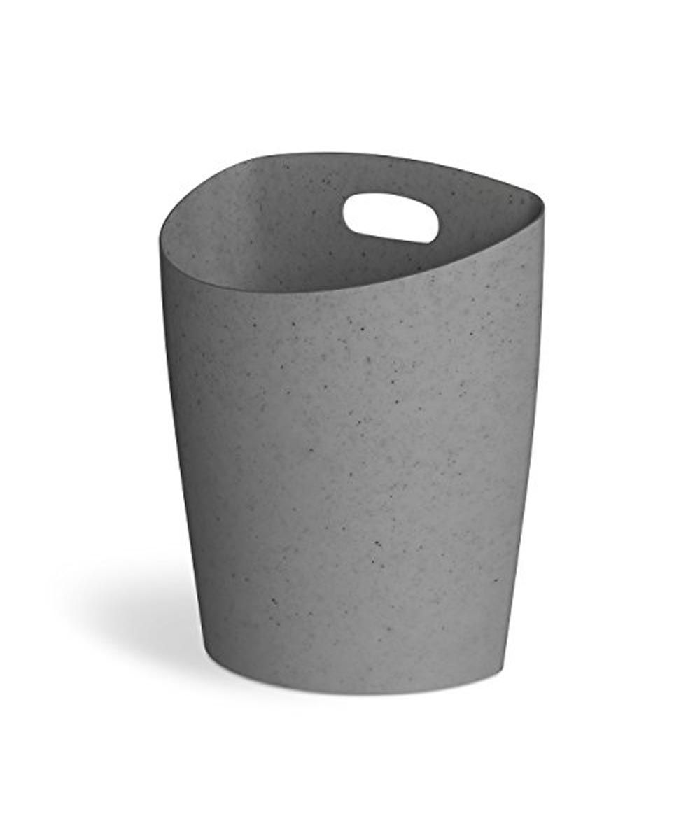Trim Flat Back Waste Can, Charcoal Speckle