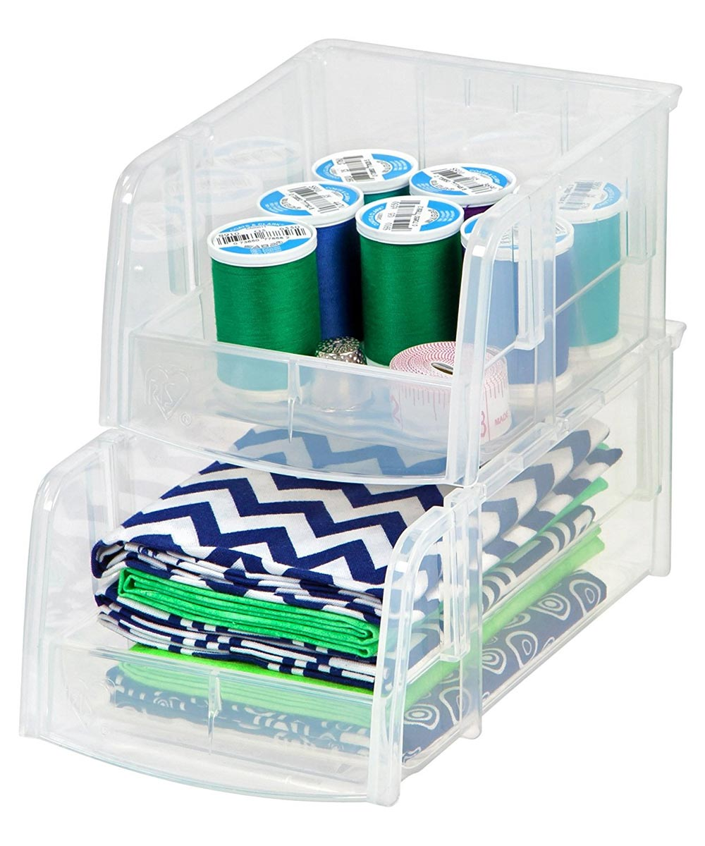 Simply Organized Extra Small Open Front Storage Bin Clear