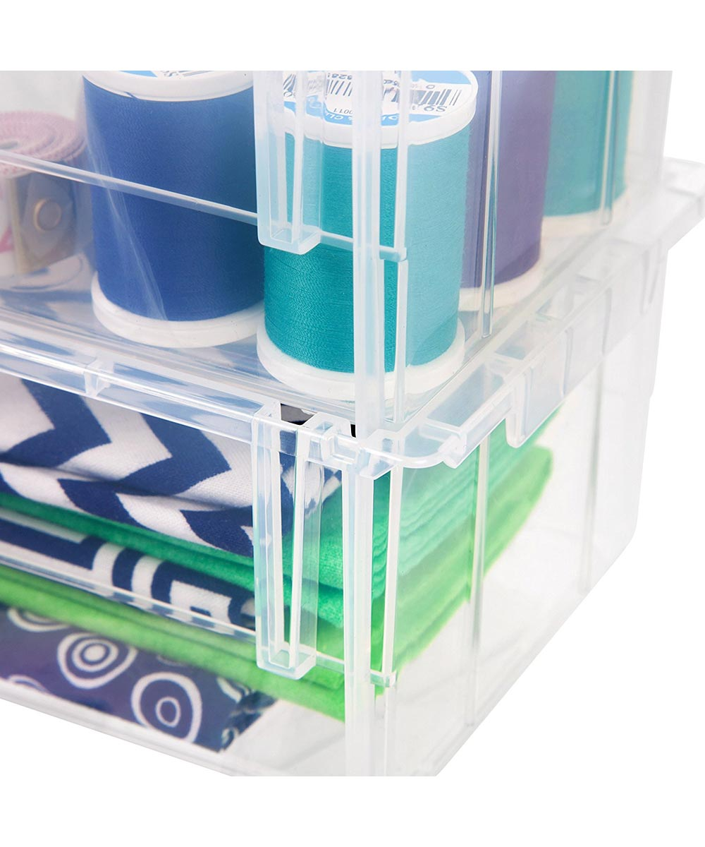 Simply Organized Large Open Front Storage Bin Clear