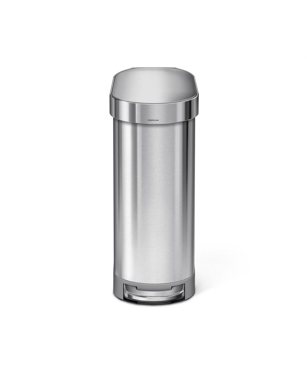 Slim Step Can, Stainless Steel Brushed, 45L