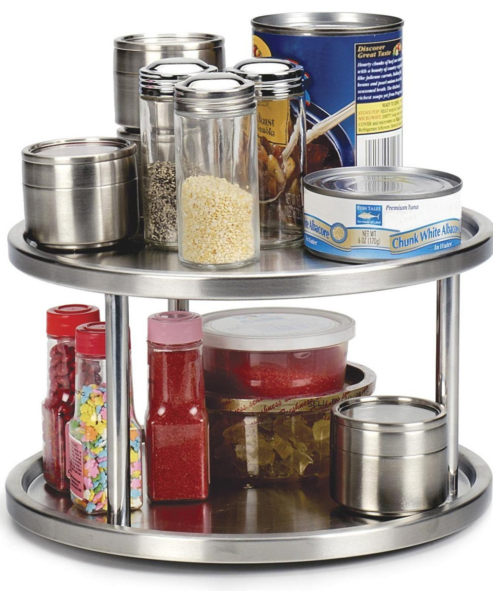 2-Tier Endurance Stainless Steel Lazy Susan Turntable