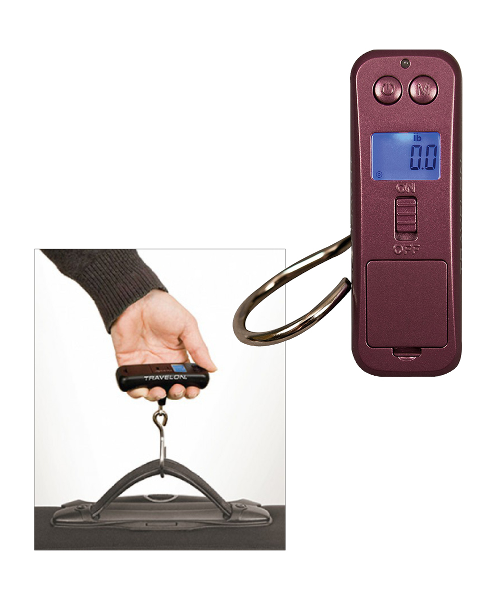 Micro Digital Scale, Burgandy