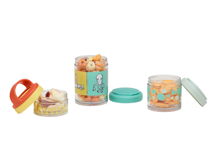 ORE' SUGARBOOGER Adventure Animals Twist & Snack Stacker Containers