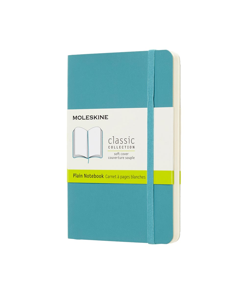 Classic Soft Cover Plain Notebook Journal, Pocket 3.5x5.5 Inch, Reef Blue