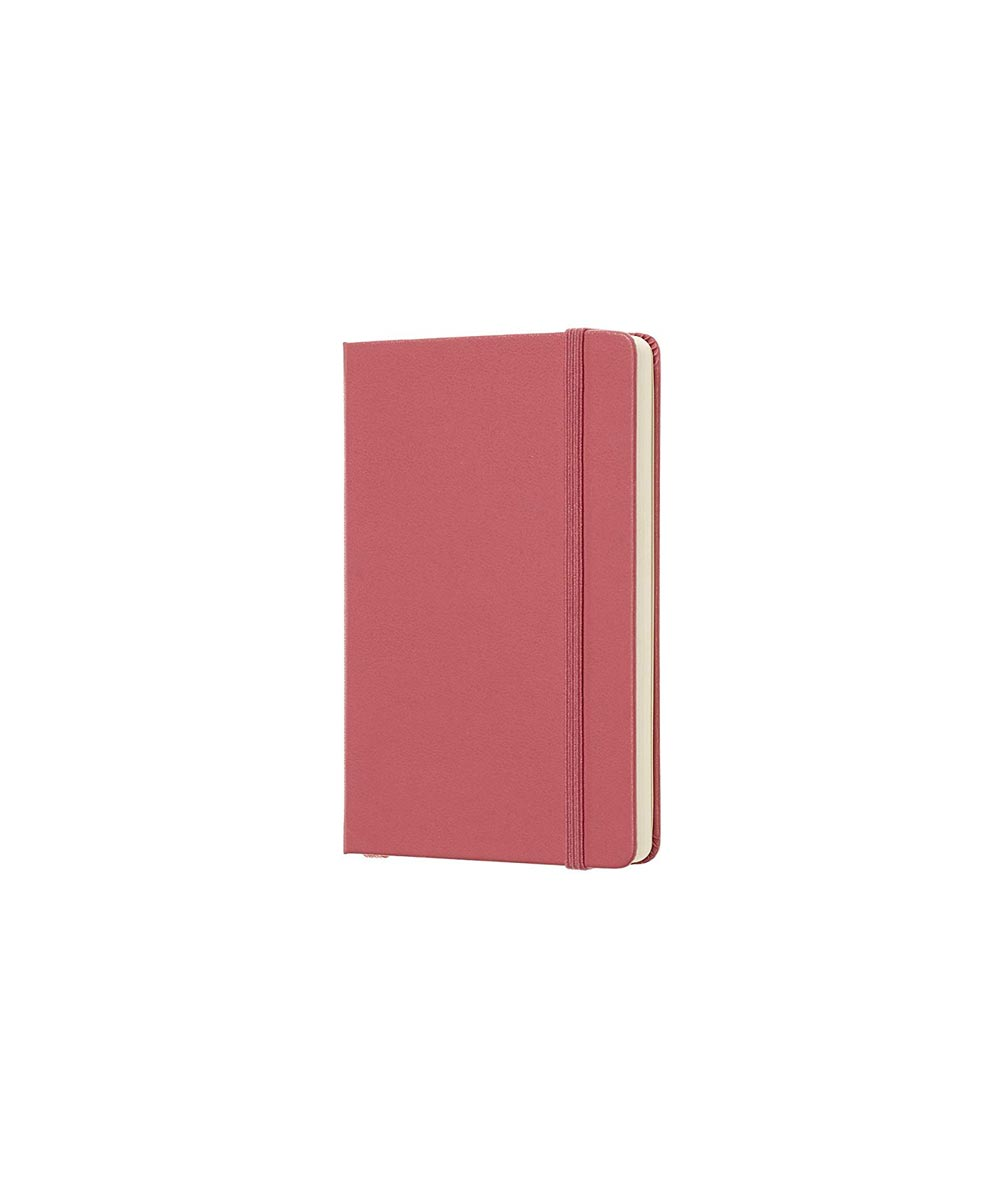 Classic Hard Cover Plain Notebook Journal, Pocket 3.5x5.5 Inch, Daisy Pink