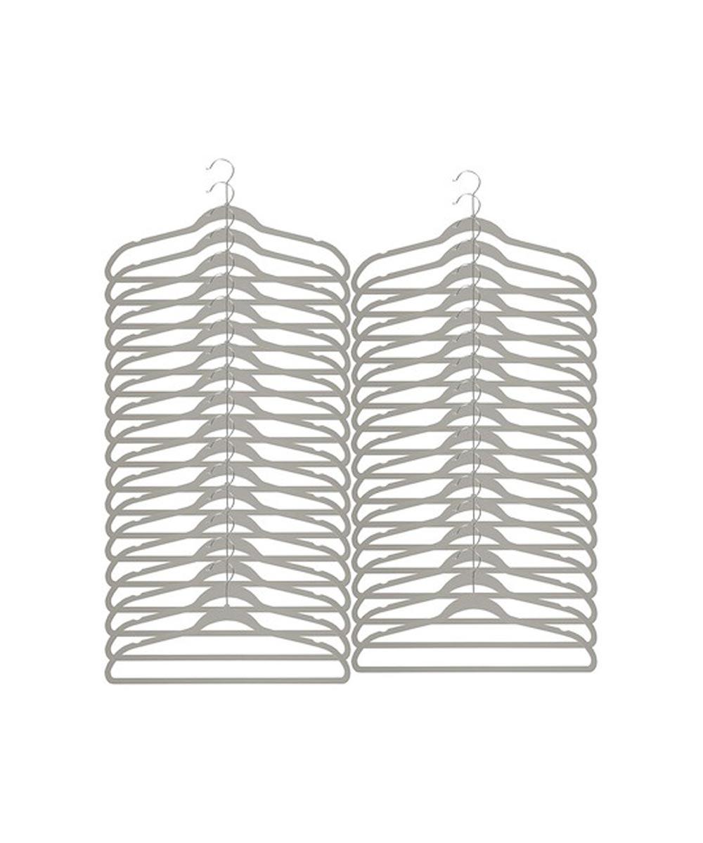Gray Softgrip Hanger, Set of 35