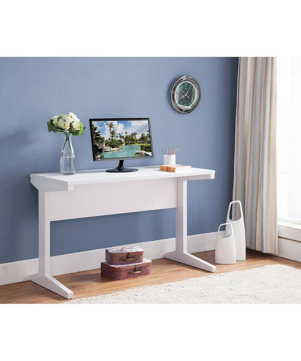 47 in. Wide Writing & Computer Desk, White