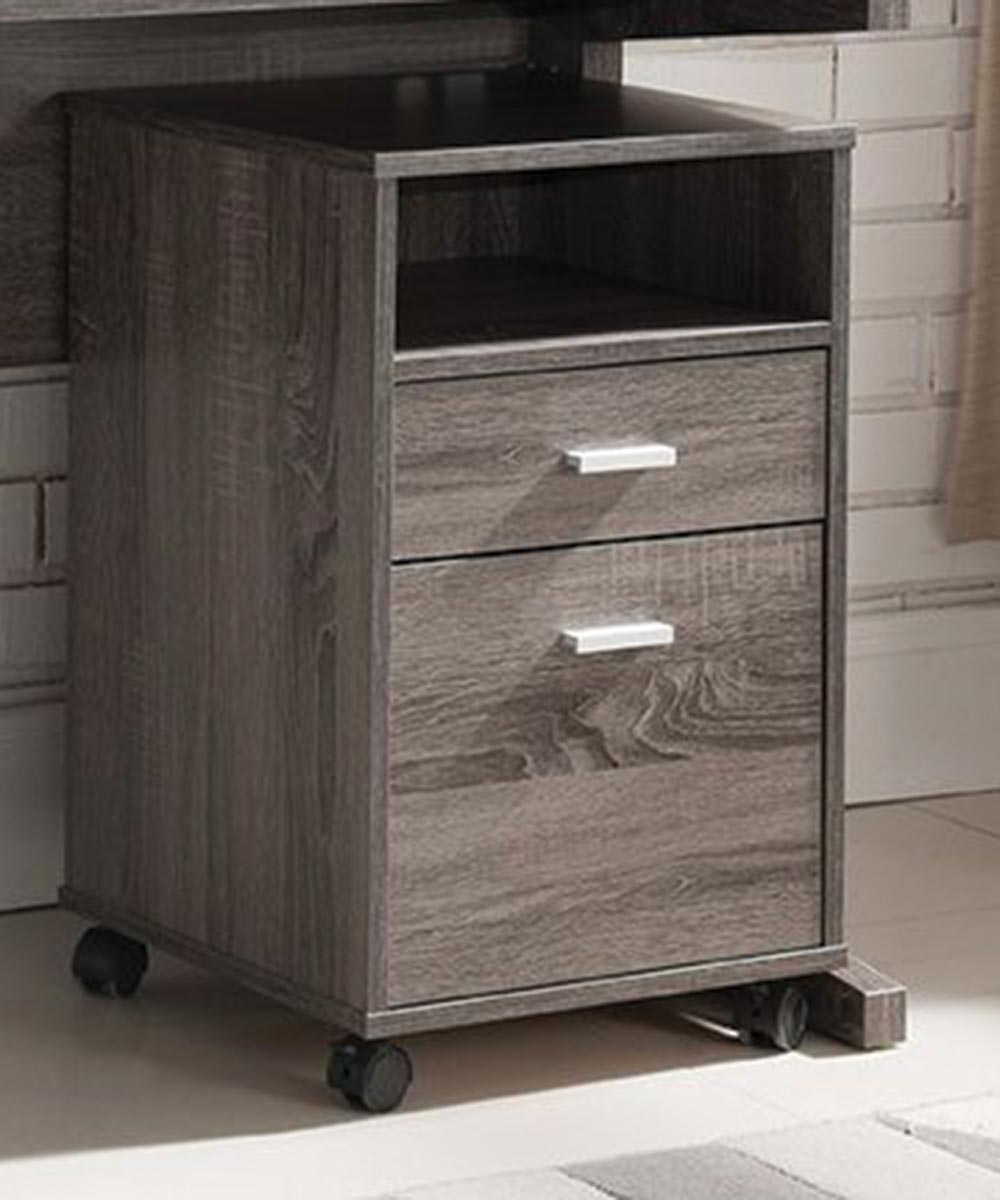 Simply Organized 2 Drawer File Cabinet With Wheels Gray