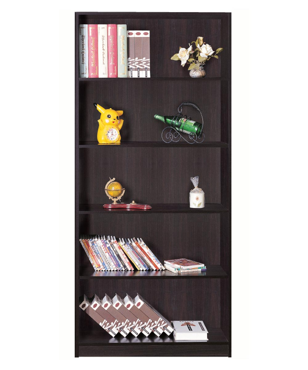 5-Shelf Bookcase, Espresso