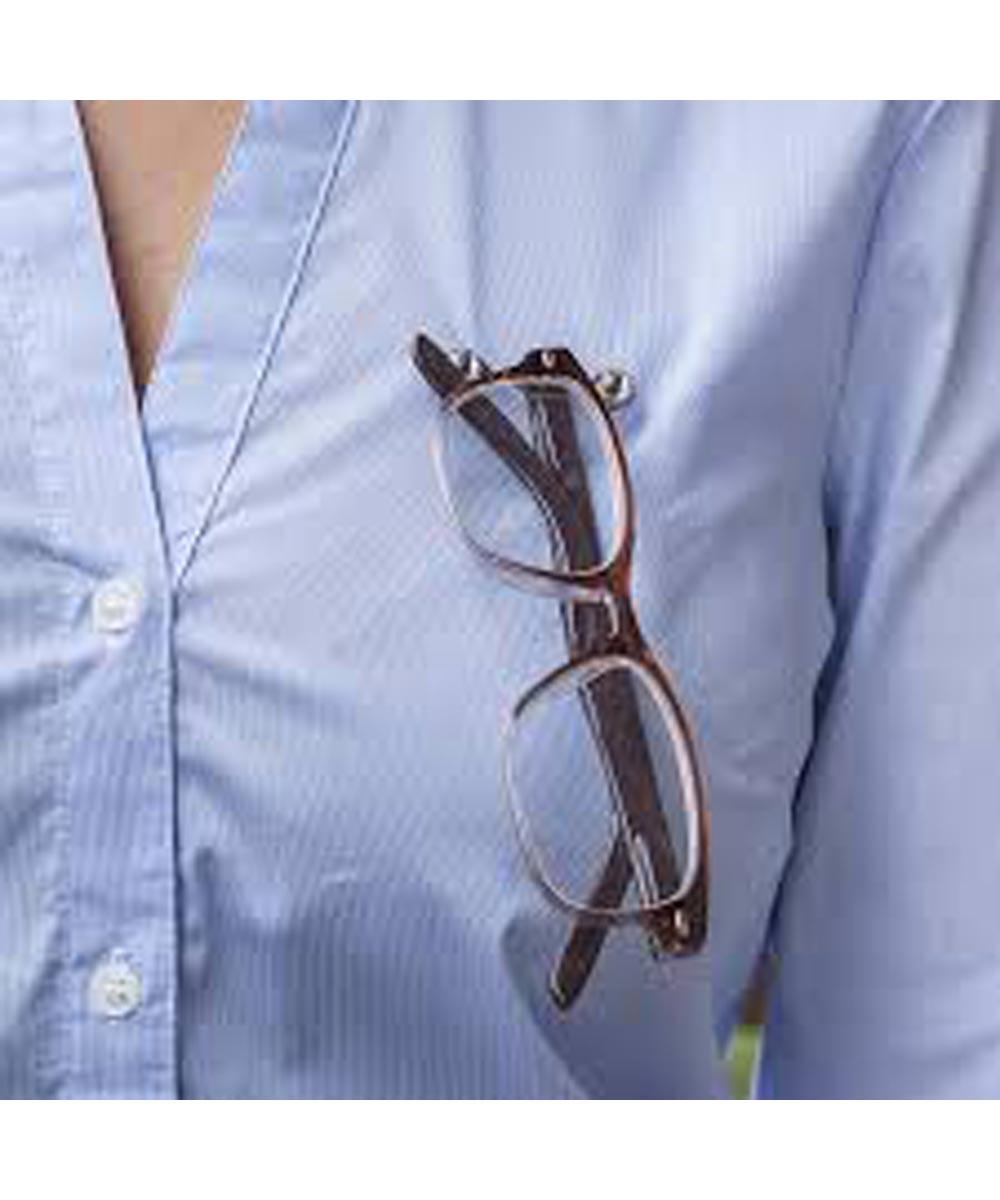 ReadeREST Stainless Steel with Swarovski Crystals Magnetic Eyeglass Holder