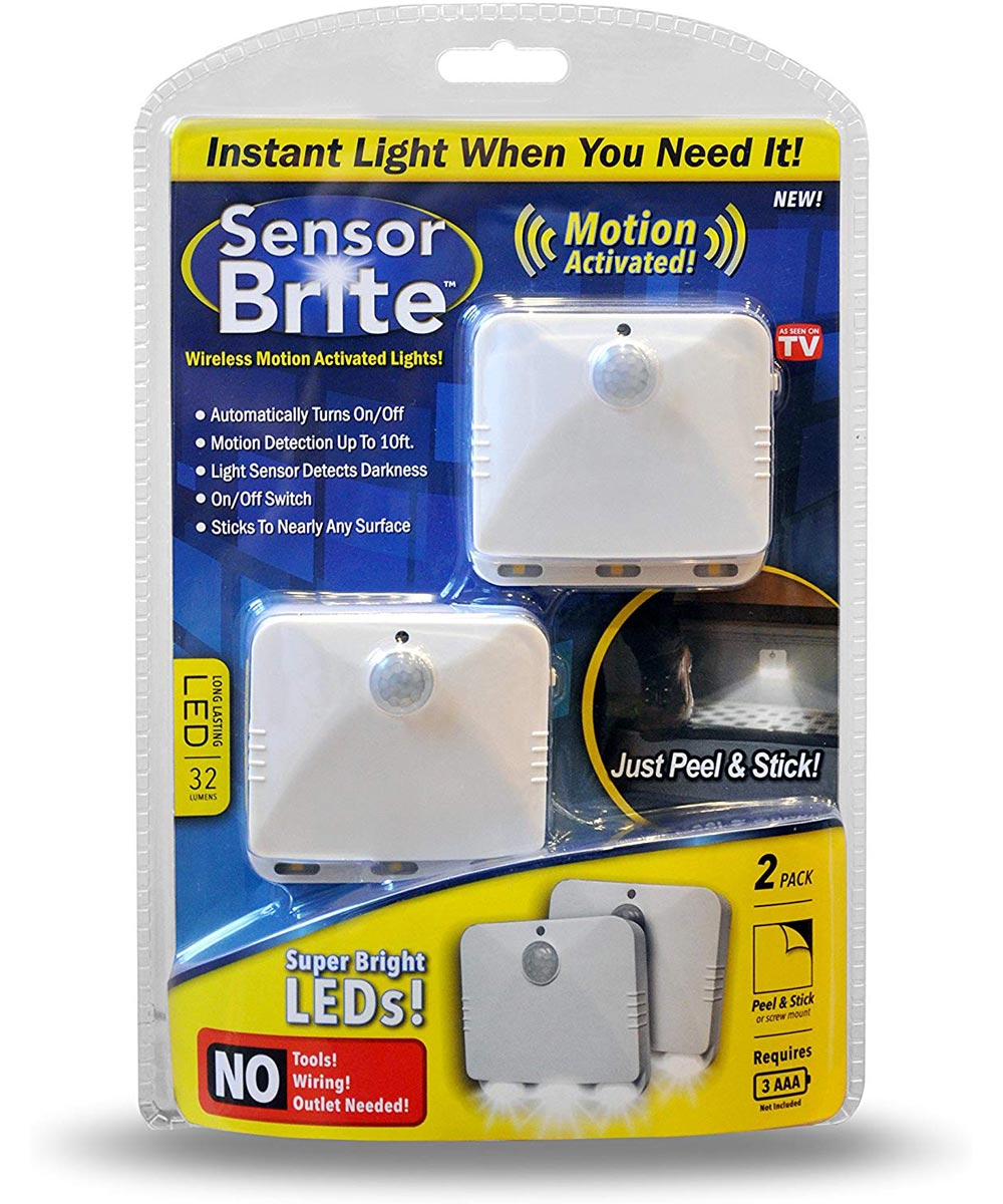 2-Pack Sensor Brite Motion Activated LED Lights