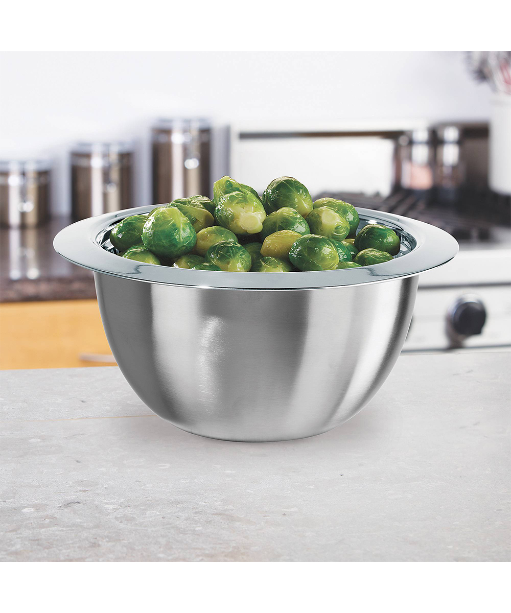 Oggi 2 Quart Thermal Stainless Steel Serving Bowl with Cover