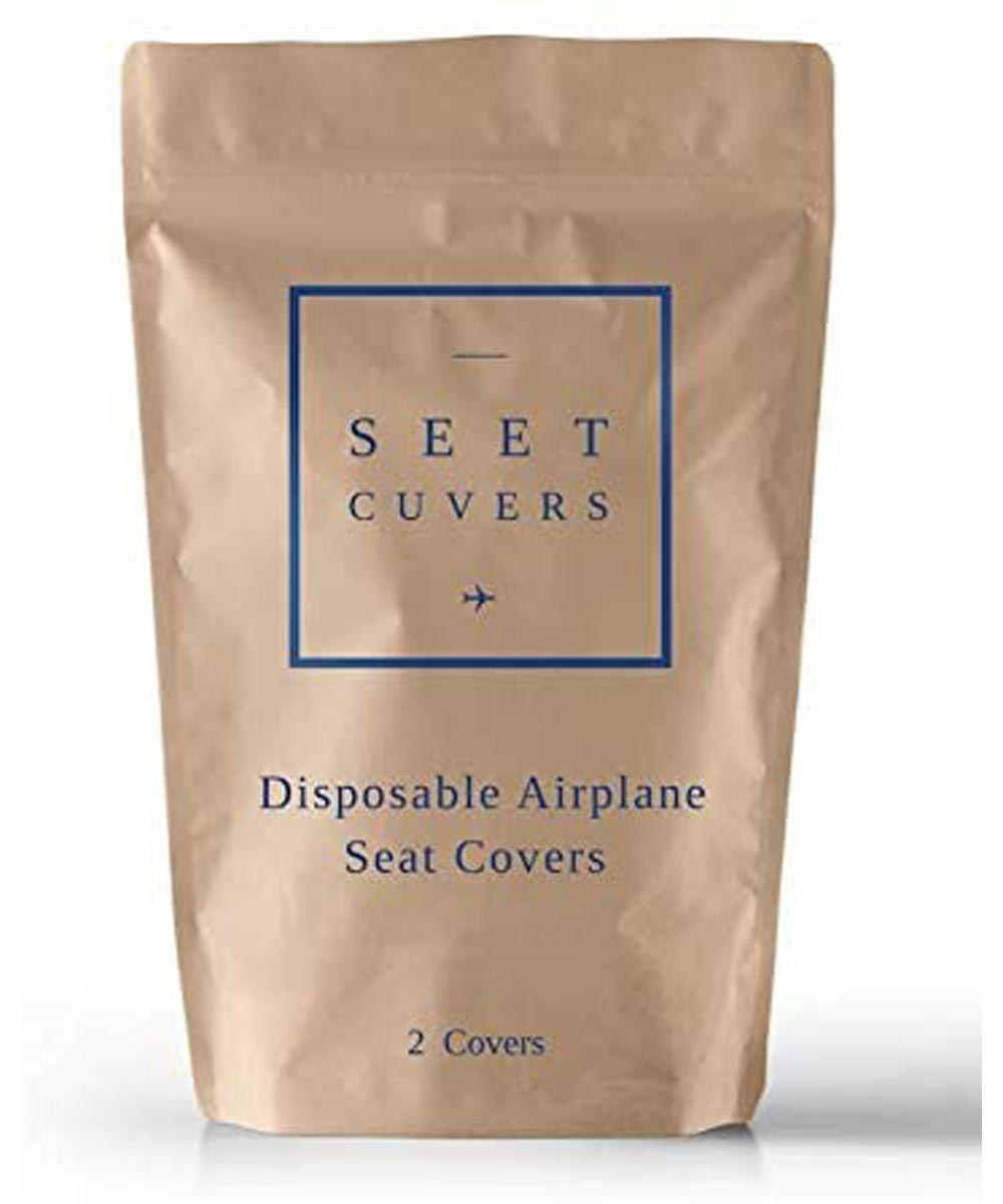 Seet Cuvers Disposable Airplane Seat Covers, 2 Covers Per Pack