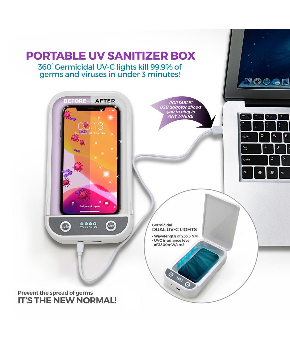 Travelon Portable UV Sanitizer Box with USB Adapter