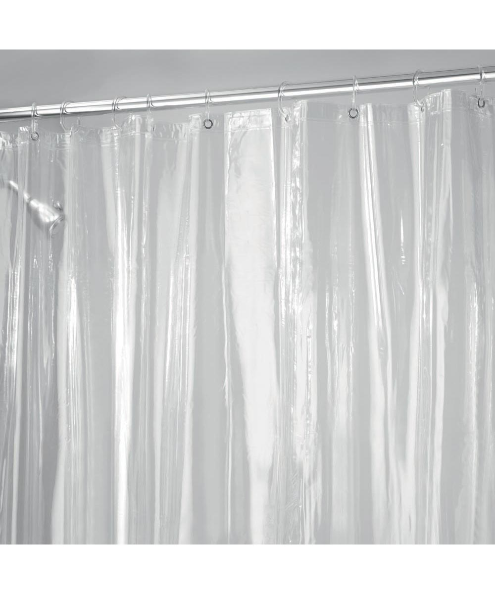 72x72 Inch Vinyl Shower Curtain Liner With Metal Grommets Clear Color