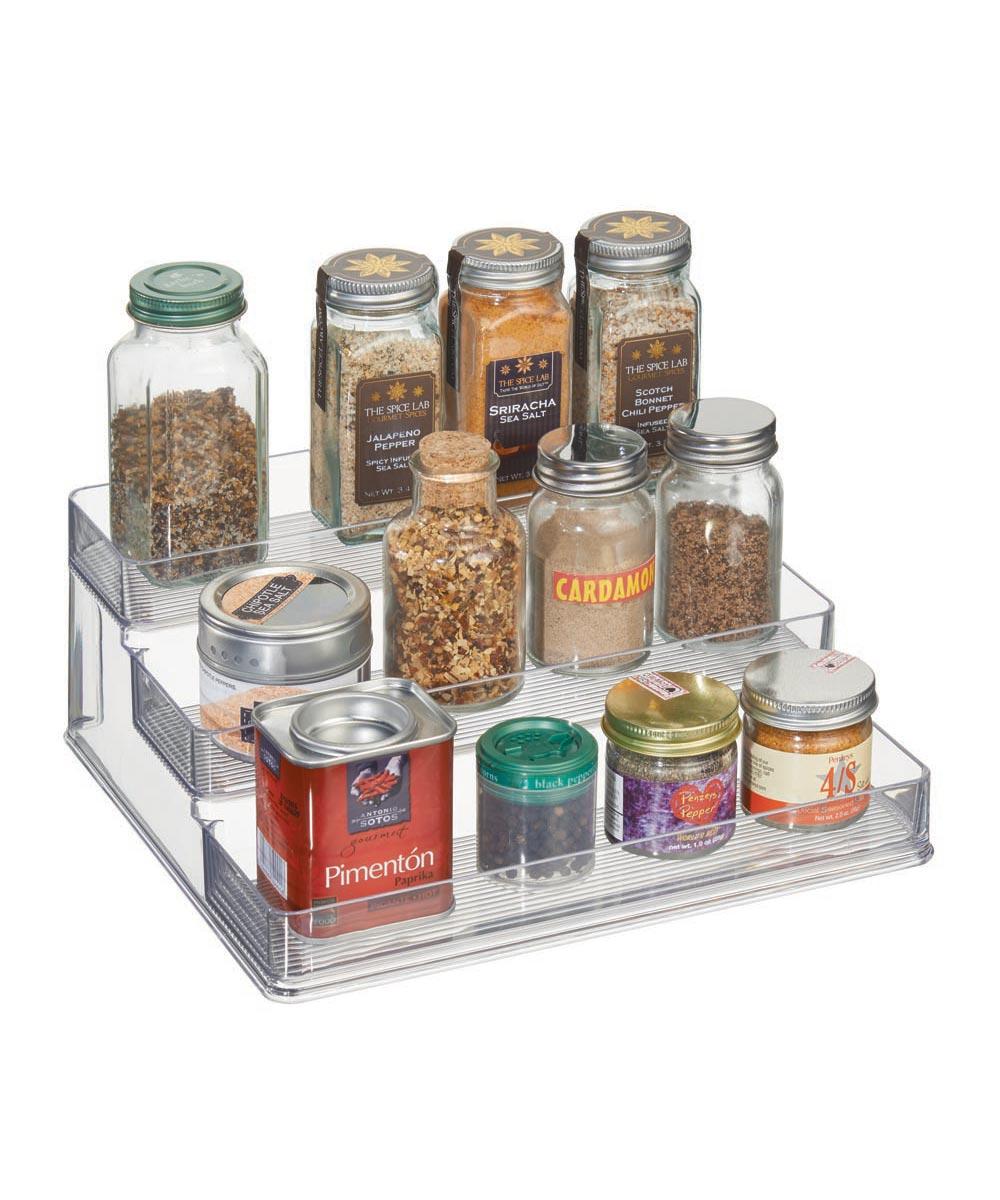 Simply Organized Linus 3 Tier Plastic Stadium Spice Rack