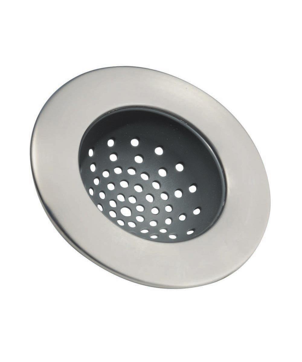 Forma Metal Kitchen Sink Drain Strainer, Stainless Steel
