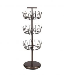 3-Tier Revolving Shoe Tree, Bronze