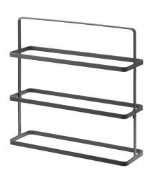 3-Tier Tower Shoe Rack, Black