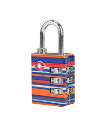 TSA Accepted Luggage Lock, Coral Stripe
