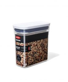 OXO Good Grips POP Container, Slim Rectangle Short 1.2 qt