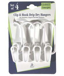 Clip-Hook Hanger 4 Count