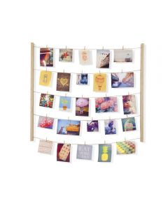 Hangit Photo Clothesline Display, Natural Color