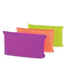 Glass & Non-Stick Safe Dish Scrub Sponge, Multi-Color 3 Pack