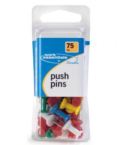 Push Pins, Multi-Color 75 Count