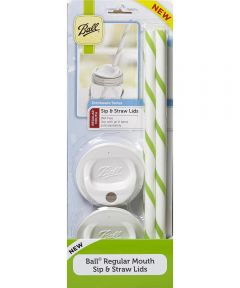 Mason Jar Regular Mouth Sip & Straw Lids