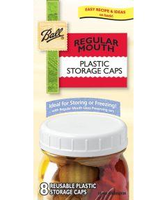 Regular Mouth Plastic Storage Caps 8 Count