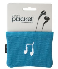 Blue Pocket Pouch For Earphones