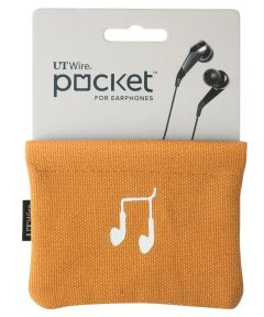 Orange Pocket Pouch For Earphone