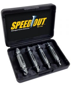Speed Out Damaged Screw Extractor, 4 Piece Set