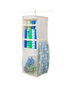 Hanging Revolving Gift Wrap Supply Organizer